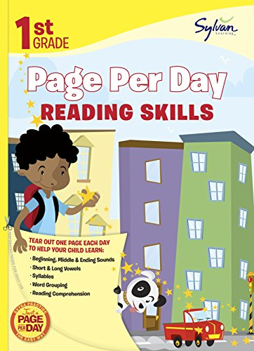 First Grade Page Per Day: Reading Skills (Sylvan Page Per Day Series, Language Arts)