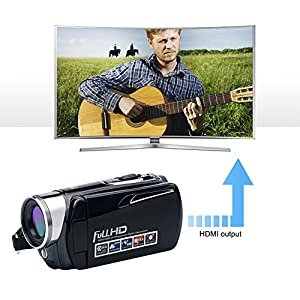 Camcorder 4K Camera Video Camera WiFi Camcorder Ultra HD 48MP Digital Camera 3.0'' Touch Screen Night Vision Pause Function …