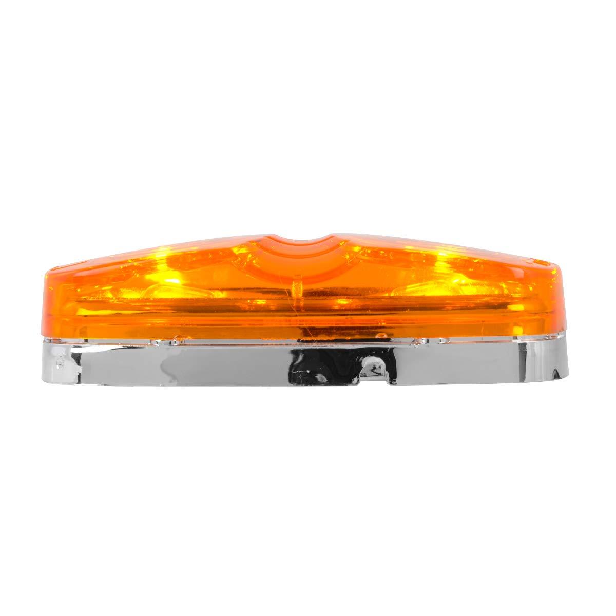 Amber Tiger Eye, White Base GG Grand General 82920 Marker Light