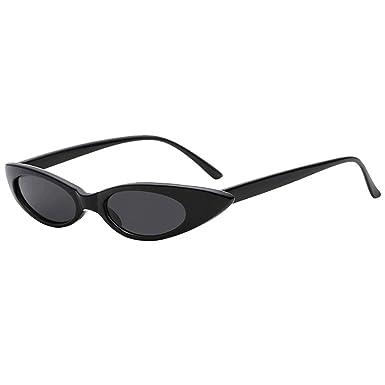 Malloom Retro Vintage Clout Cat lunettes de soleil unisexe Rapper Ovales  Shades Grunge Lunettes a95bbf0937b8