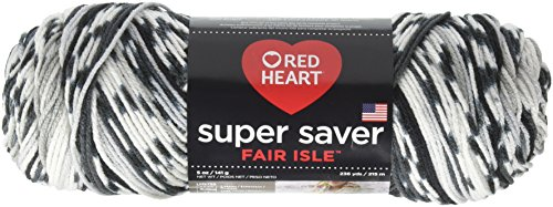Red Heart Super Saver Fair Isle, Newspaper Yarn,