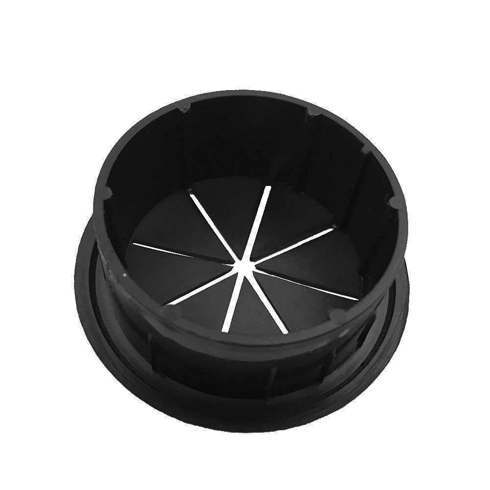 New Black HYCC 2 Flexible Desk Grommet 5 Pack Color