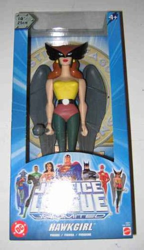 (DC Super Heroes Year 2004 Justice League Unlimited 10 Inch Tall Action Figure - Hawkgirl with Mace and Display)