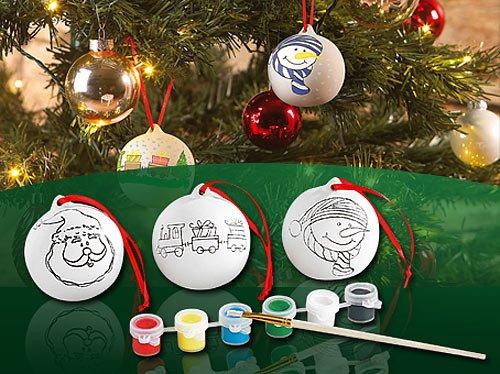 Your Design Keramik Weihnachtskugeln Zum Selbstbemalen Amazon De