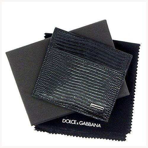 (ドルチェ&ガッバーナ) Dolce & Gabbana カードケース ブラック リザード型押し レディース 中古 Y197   B07954MZ8S