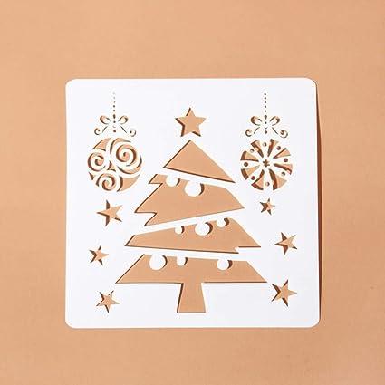 Règle De Peinture De Noël En Forme De Sapin De Noël Modèle