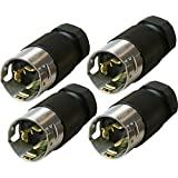 Hubbell 05974 50-Amp 125/250V Locking Male Plug Replacement Adapters, 4-Pack
