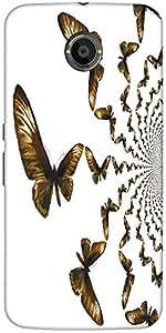 Snoogg Kaleidoscopic Butterflies Designer Protective Back Case Cover For Goog...
