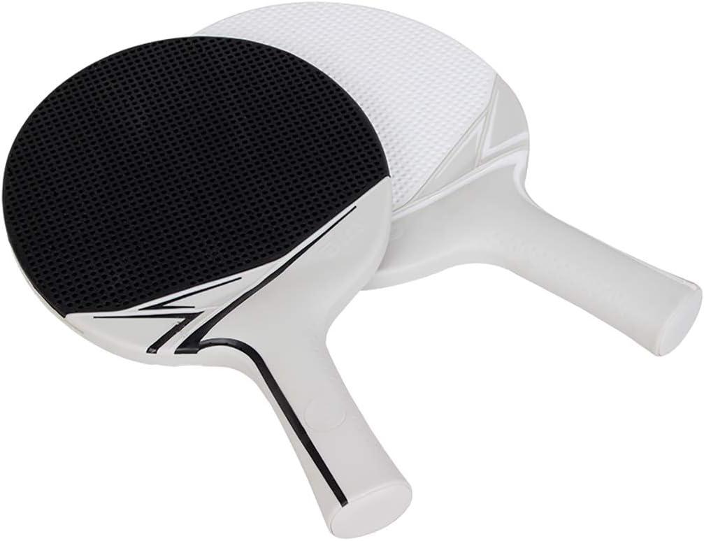 FSS Raqueta de tenis de mesa DHS NiñOs Table Tennis Racket Bat Set Plastic Ping Pong Paddle For Kids Kindergarten Beginner (2 Paddle + Ball)