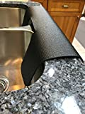 Black Kitchen sink edge guard/Kitchen granite protector/protects from chipping/copyright 2017/TM/Patent pending (17 in. width x 23 in. length)