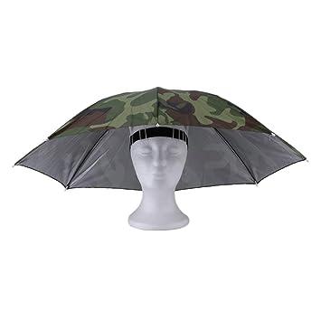Ironheel Sombrero de Paraguas, Deportes al Aire Libre portátiles 69 cm Sombrero del Paraguas Gorra