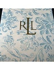 Ralph Lauren Bluff Point Floral Aqua Tablecloth 60 X 84 Oblong