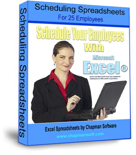 Scheduling Spreadsheets for 25 Employees