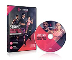 ABOUT THE DVD: No, it's not a dance class. And it's not just another bootcamp. Discover the STRONG by Zumba High-Intensity Cardio and Tone 60 min workout, where every move is synced to a beat. Using only your bodyweight, transform your body a...
