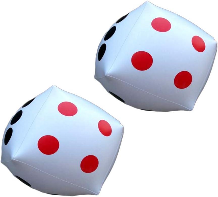 NUOBESTY Dados inflables Gigantes 2pcs, Dados enormes para el Favor de Partido del Juguete de la Piscina del Juego, los 32cm los x 32cm: Amazon.es: Juguetes y juegos