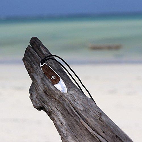 En Paddle Taille Pendentif Sup Bijou D'argent Xl Up Planche Stand Bois Xzzx0w6
