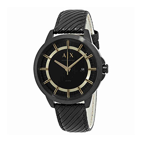 Armani Exchange Men's AX2266 Black  Leather - Online Shop Armani