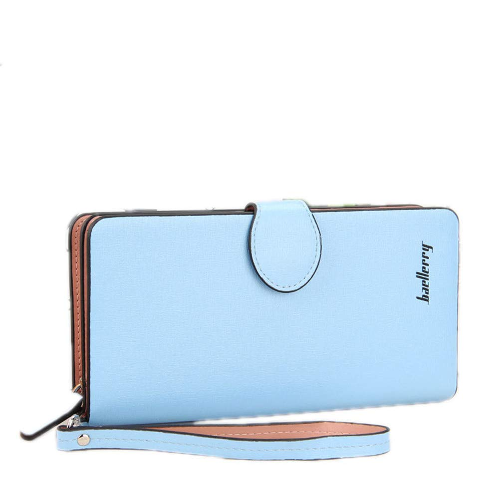 Fashion Women Soft Wallets Matte PU Leather Zipper Ladies Long Clutch Purse Phone Card Holder
