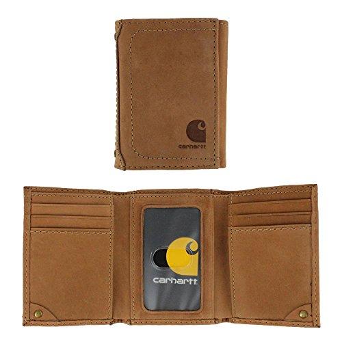 Tan Tri Fold Wallet (Carhartt Men's Trifold Wallet,Tan,One Size)