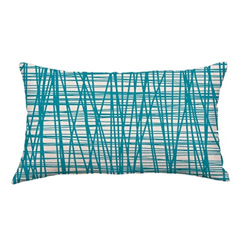 Clearance Square Pillow Cases,Jushye Geometric Lines Sofa Bed