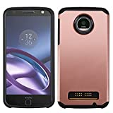 Asmyna Cell Phone Case for MOTOROLA Moto Z Play - Rose Gold/Black
