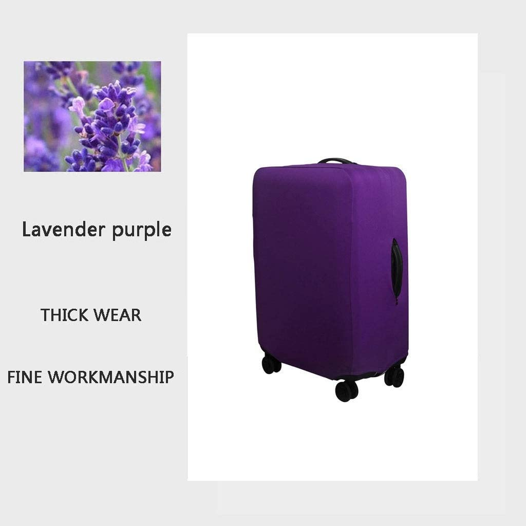 Size : XL Trolley case Suitcase Cover The Fabric is Firm and Unbreakable Suitcase Sleeve Cover Dust-Proof,Wear Protection,No Odor,Spandex Luggage Protector 24-42 inches One-Word Lavender Purple