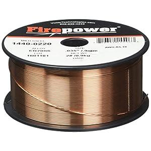 Firepower 1440-0220 Mild Steel Solid MIG Welding Wire 0.035-Inch Diameter, 2-Pound