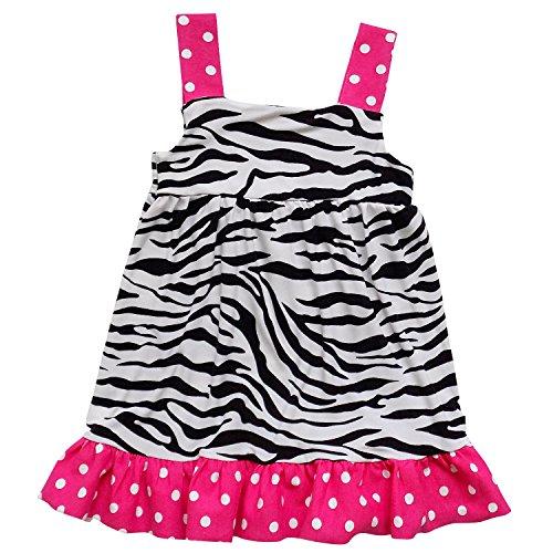 - So Sydney Toddler & Girls Tank Style or 1 Shoulder Spring Summer Boutique Dress (110 (XS-4/5), Hot Pink Polka Zebra Stripe)