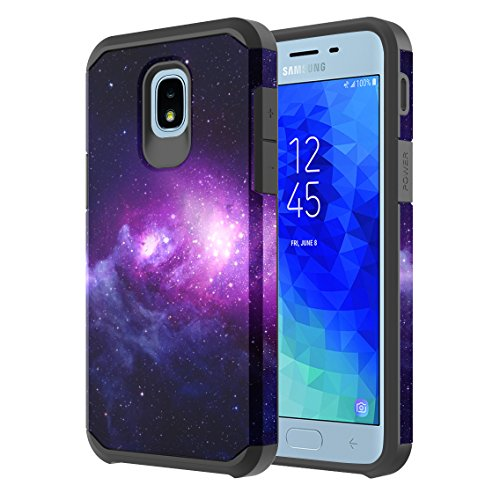 Samsung Galaxy J3 Achieve/J3 Star/J3 V 2nd Gen./J3 2018/Express Prime 3/Sol 3/Amp Prime 3 2018 Case, Onyxii Hybrid Graphic Protective Armor Cover Case for SM-J337 (Galaxy Cloud)