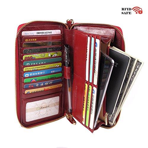 women-rfid-blocking-wallet-genuine-leather-zip-around-clutch-ladies-purse-wristlet-wine-red-wax-leat