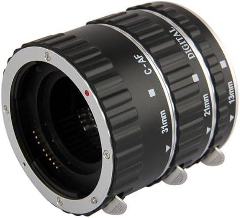 Automatik Zwischenringe (Silber mit Alu-Bajonett Version) 3-teilig 31mm, 21mm & 13mm für Makrofotographie passend zu Canon EF/EF-S