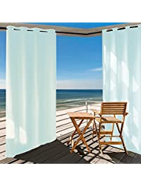 Privacy Outdoor Single Window Curtain Panel 50x108 Inch With Free Ropes For  Porch Patio