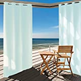 Outdoor Curtain Panel for Patio 50x120-Inch - Home Cal Versatile Thermal Insulated Grommets Blackout UV Ray Protected Waterproof Outdoor Curtain/Drape for Patio/Front Porch, SkyBlue