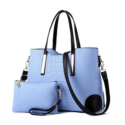 Ryse Womens Fashionable Classic Exquisite Handbag Shoulder Bag Small Wallet(LightBlue) (Phillip Lim Wallet)