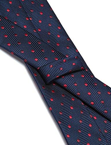 COOFANDY Men's Business Necktie Classic Silk Tie Woven Jacquard Neck Ties by COOFANDY (Image #3)