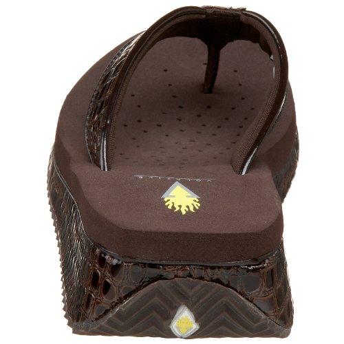 Wedge Brown Mini Sandal Croco Women's Volatile UqX1wtxR