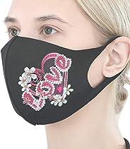 Reusable 2-Layer Cotton Face Mask Diamond Painting Kit For Adult, Valentine's Day Diy 5d Diamond Decoratio