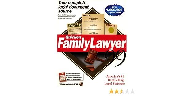 Amazon.com: Quicken Family Lawyer 99
