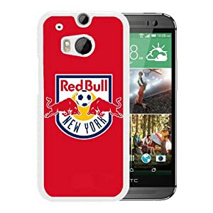 Fashionable Custom Designed Skin Case For HTC ONE M8 With New York Red Bulls White Phone Case 3