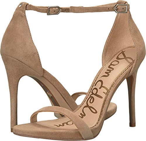 Sam Edelman Women's Ariella Heeled Sandal, Oatmeal Suede 5 M -