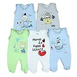 5er Set Baby Strampler 100% Baumwolle Babystrampler Strampelanzug Junge Mädchen, Farbe: Junge 2, Größe: 80