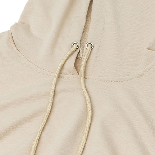 Short Punk Hoodie Top Hooded Khaki Loose Sweatshirt Long Crop Sleeve Stylish Women q5zt84U8