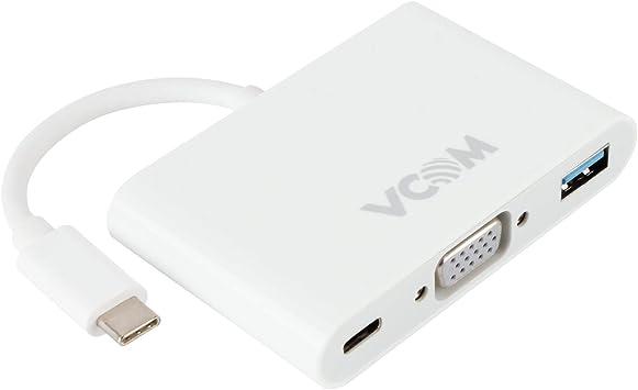 New USB 3.1 Type C to VGA USB 3.0 USB-C Multiport Charging Converter HUB Adapter