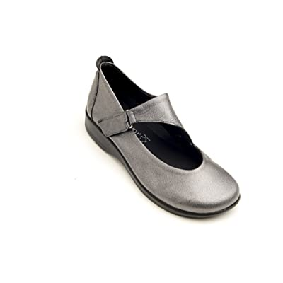 Arcopedico 9991 Ellery Womens Flats Shoes, Pewter, Size - 40