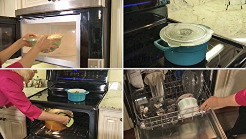 Microwave Glass vented lid set