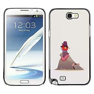 "For Samsung Note 2 N7100 Case , Red Cat gris rata Grandes Amigos Gorra de montar"" - Diseño Patrón Teléfono Caso Cubierta Case Bumper Duro Protección Case Cover Funda"