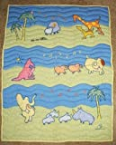 John Lennon Baby Blanket Quilt - Real Love / Musical Parade Keepsake