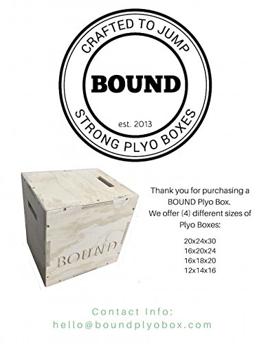 (20/24/30) Bound Plyo Box 3-in-1 Wood Puzzle Plyometric Box - CrossFit Training, MMA, or Plyometric Agility - Jump Box, Plyobox, Plyo Box, Plyometric Box, Plyometrics Box by BOUND Plyo Box (Image #3)