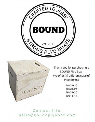 (16/18/20) Bound Plyo Box 3-in-1 Wood Puzzle Plyometric Box - CrossFit Training, MMA, or Plyometric Agility - Jump Box, Plyobox, Plyo Box, Plyometric Box, Plyometrics Box by BOUND Plyo Box (Image #3)