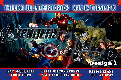 Avengers Personalized Birthday Invitations More Designs Inside!